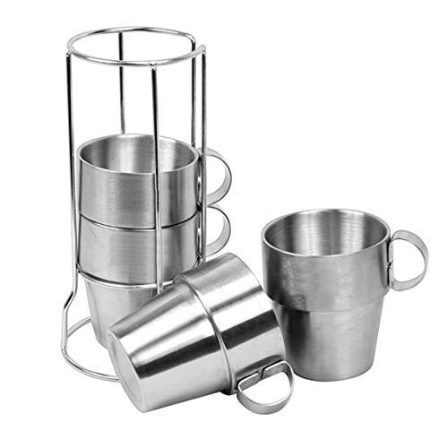 ZFW Cup Piece Set Picknick Isolierung Verbrühschutz Kaffeebecher Bier Edelstahlbecher Bruchsicher Sicher und ungiftig - Edelstahl-bier Kann