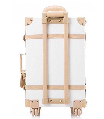 Xiuxiandianju Indossare impermeabile PU viaggio unidirezionale case moda business trolley borsa da viaggio (22 pollici) , red brown white and beige