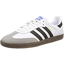 adidas Samba OG, Zapatillas para Hombre, Blanco (Footwear White/Core Black/Clear Granite 0), 43 1/3 EU