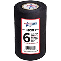 Sport Tape Raqueta Tape 18m x 24mm negro 6unidades