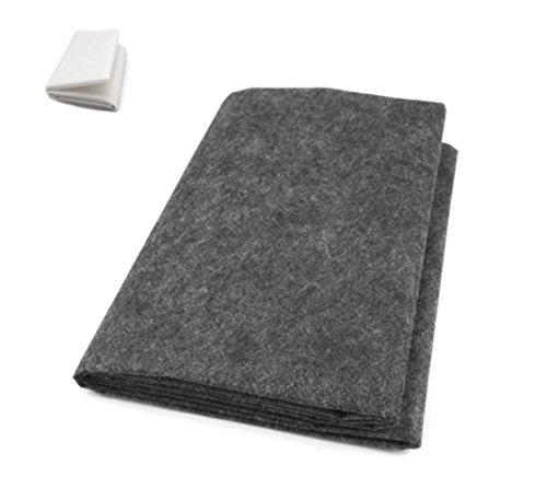 Bande autocollante Zadawerk - Textile non-tissé - Sur une seule face ou sur les deux faces - Pour la couture, gris, Mittel (40+18 g/m2)