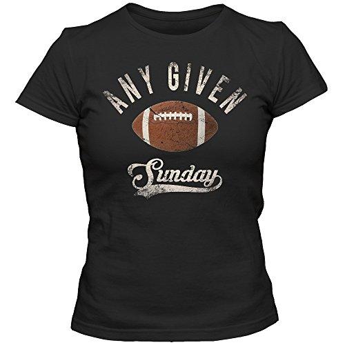 An jedem verdammten Sonntag T-Shirt Damen Football Shirt Super Bowl American Sports Fanshirt Tee, Farbe:Schwarz (Deep Black L191);Größe:L