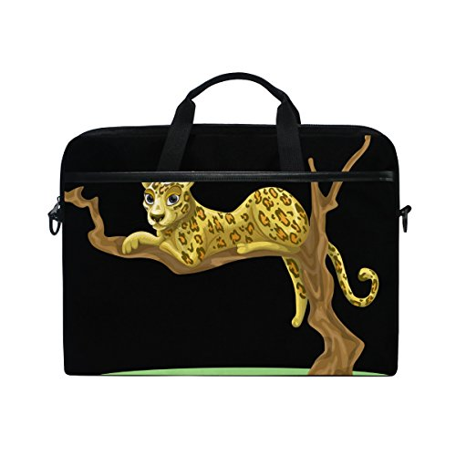 (Ahomy Leopard Tree Branches Multifunktionale Stofftasche Wasserdicht Laptop Tasche Aktentasche Schultertasche Messenger Bag)
