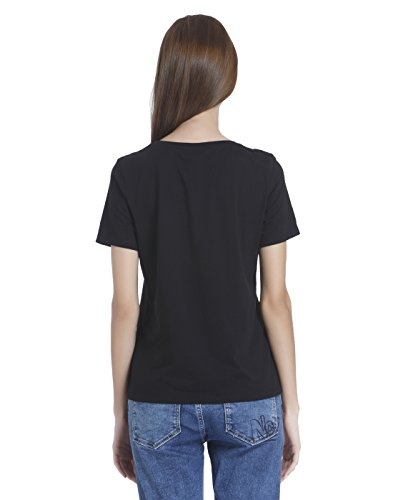 Only Onltascha S/S Top Jrs, T-Shirt Donna Nero (Black Black)