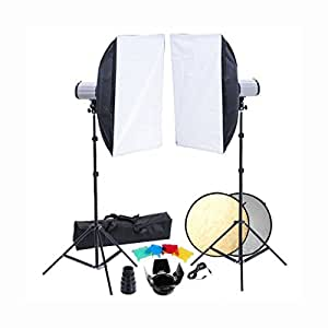 Kit Photo 2 flashes Softbox 50x70 & accessoires