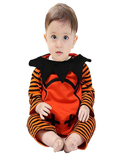 Baby Loki Kostüm - LEXUPE Neugeborenes Baby Boy gestreiften Strampler