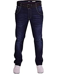 Firetrap Mens Hardwearing Durable Quality Slim Fit Tapered Stretch Denim Jeans 3 Colours