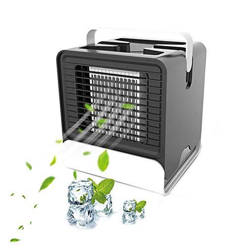 Persönlicher Luftkühler, tragbarer 3-in-1-Klimaanlagenventilator Desktop-Raumkühler Persönlicher USB-Tischventilator Kleiner Verdunstungskühler Luftbefeuchter -