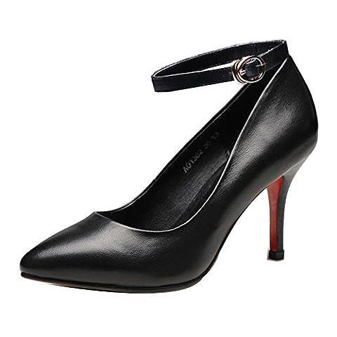 Ladola Dgug00360, Bride Cheville femme - noir - noir,