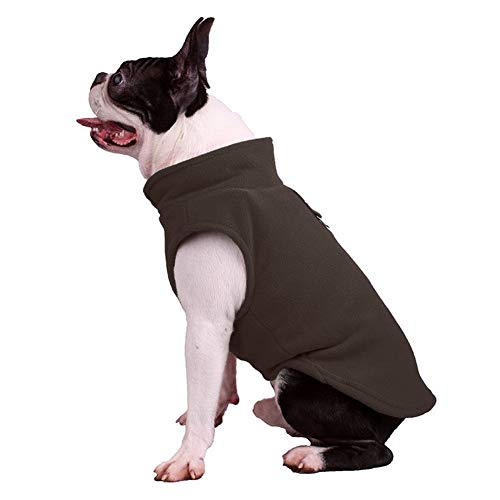 Schön Haustier-Fleece Harness Vest Strickjacke-Mantel-Jumper for kleine Hunde züchten Katze Medium Für Hundehaustiere (Color : Brown, Size : M)