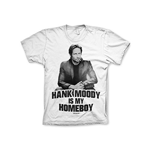 Officially Licensed Merchandise Californication Hank Moody Is My Homeboy T-Shirt (White), Medium