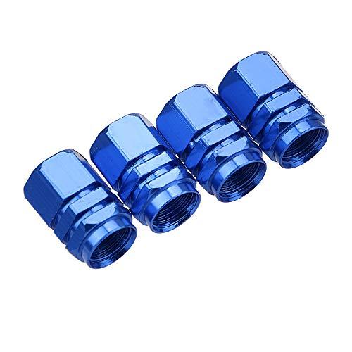 NOPNOG 4/Set Auto Reifen Ventilkappen Aluminium Auto Styling Ventilkappen blau