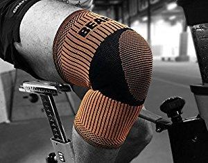 Schlafsack Mumienschlafsack Bearhug Kniebandage. Bambus anthrazit unterstützt für Training, Wettkampf und Rehabilitation., Orange & Black (Black Wettkampf-fußball)