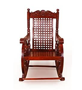 Onlineshoppee Grandpa Rocking Chair (Brown, 43 X 24 X 37 Inch)