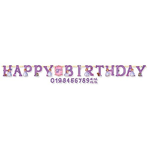 (Disney Sofia The First Jumbo Add-An-Age Princess Birthday Party Letter Banner Decoration (1 Piece), Pink/Purple, . by Amscan)