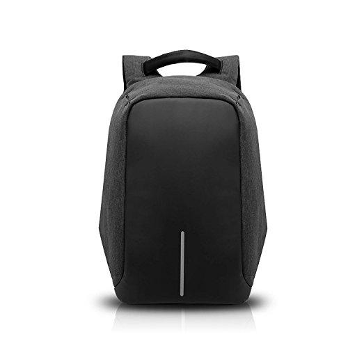 FANDARE 2017 Antifurto Zaino della Scuola Notebook Portatile Laptop 15.6 Pollici Schoolbag Viaggio Borsa USB Port Polyester Nero