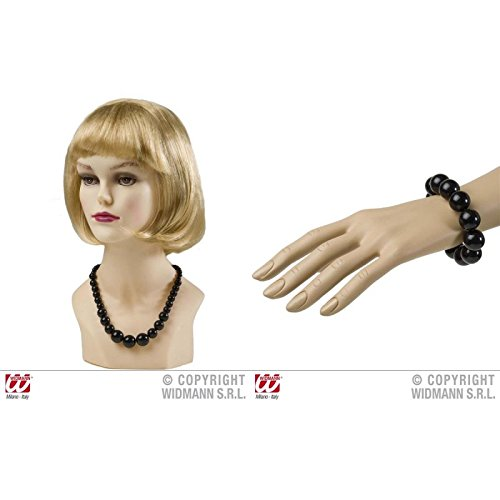 Geniales Perlen - Armband & Kette in schwarz im Stil der 50er bis 70er Jahre