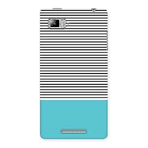 Neo World Classic Blue Stripes Back Case Cover for Lenovo Vibe Z K910