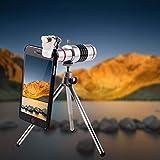 18X Zoom Optische Kamera Handy Smartphone Teleskop Objektiv Teleobjektiv externes Universal Teleobjektiv Stativ Zubehör für Reisen, Konzerte, Spiele, Astronomie etc.