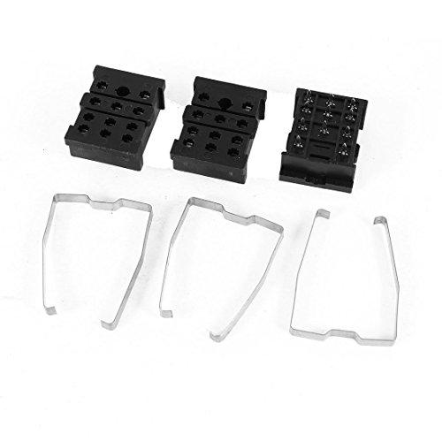3 PCS Leiterplatte montiert 11 Pin Spannung Relay Socket Base 10 A 300 V 11-pin Relay Socket