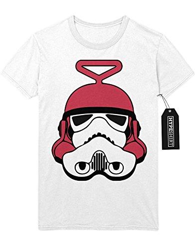 T-Shirt Teletubbie-Trooper Mashup C112236 Weiß (Laa Kostüme Teletubbie Laa)
