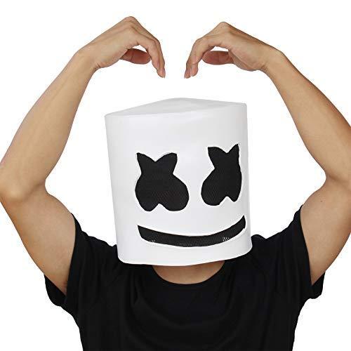 PartyCostume - DJ Marshmello Maske - Halloween Party Cosplay Requisiten Latex Kopf ()