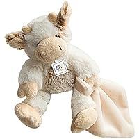 Oh Studio par Doudou et Compagnie vaca pañuelo blanco crudo marrón jaspeado peluche 22 cm Animal