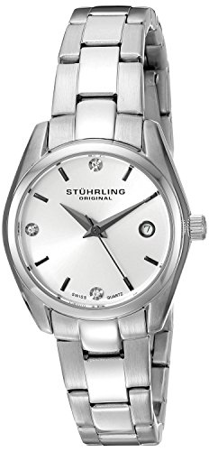 Stuhrling Original Lady Ascot Prime Damen-Armbanduhr Analog Quarz Edelstahl - 414L.01