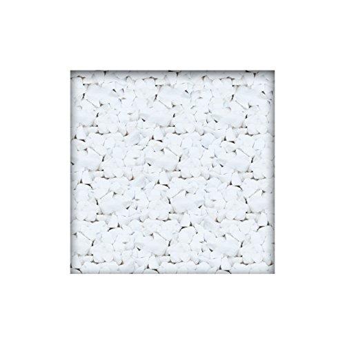 Marmorsplitt Schneeweiss 8/12 mm Dekosplitt Garten Deko Zierkies 25 kg (5 x 5 kg Sack)