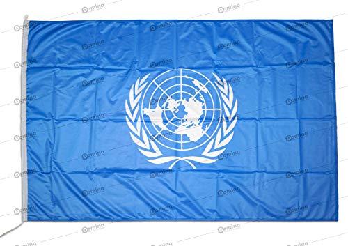 Piccola BANDIERINA ORGANIZZAZIONE delle Nazioni Unite 10 x 15 cm AZ FLAG Bandiera da Tavolo ONU 15x10cm Punta Dorata