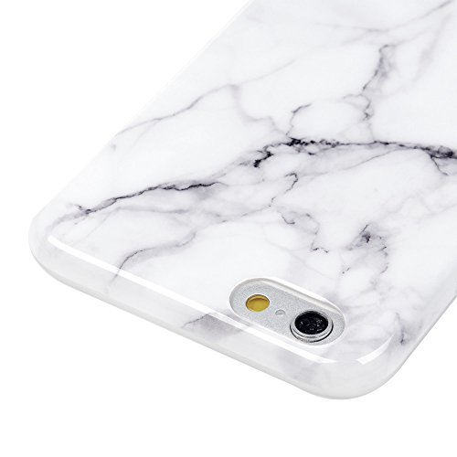 Cover iPhone 6/6S, Custodia Silicone Ultra Sottile Antiscivolo Antiurto [Processo IMD] [Non Svanisce] [Antigraffio] Slim Bumper Case per iPhone 6/6S - Marmo Grigio Marmo Grigio