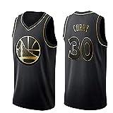 MTBD Maillot de Basketball pour Hommes - NBA Warriors Golden State # 30 Stephen Curry Maillot de Basket-Ball Vêtements de Sport Unisexe