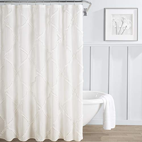 Laura Ashley Bad (Laura Ashley Adelina Duschvorhang, Baumwolle, weiß, 72x72)