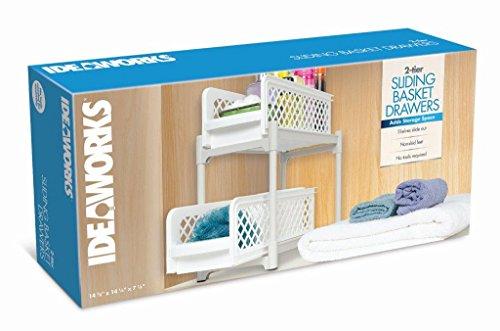 # Ideaworks e7465Tier 2Basket portatili cassetti, PP, Bianco, 38 x 14,6 x 33 cm confronta il prezzo