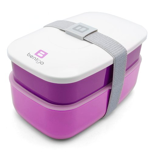 Bentgo - Bento Box inkl. Besteck (Lila) | Lunchbox | Brotdose | Kindergarten | Schule | Büro | Arbeit | Reisen