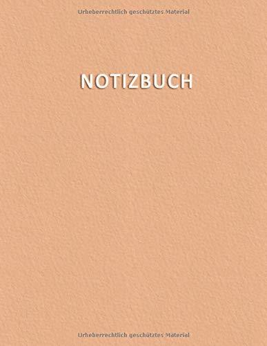 Notizbuch: Notebook für Notizen mit 100 weisse, linien, nummerierten Seiten und Inhaltsverzeichnis - Elegant und modische Pastellfarbe im Farbton ... Doodles, Skizzen, Zeichnungen, Notizen