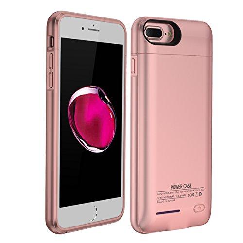 Custodia Batterie iPhone 6 6s 7 8, 3000mAh Esterno Portatile Ricaricabile Power Bank Extra Pack Extended Batteria Integrata Custodia Protettiva Cover per iPhone 6 6s 7 8 (Oro rosa)