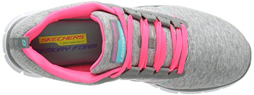 Skechers - Flex Appeal - Miracle Worker, Sneakers da donna Grigio (Grigio (Grey/Pink))
