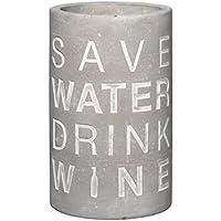 Weinkühler aus Beton mit Spruch SAVE WATER incl. Kühlschrankmagnet,Wine cooler,Haushaltshilfe, Weinkaraffen Weingeschenke