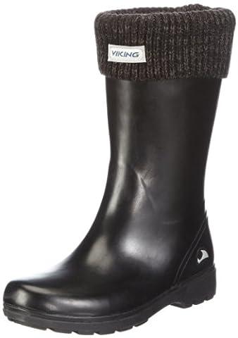 Viking MIRA JR. WARM, Mädchen Langschaft Gummistiefel, Grau (Charcoal 77), 37 EU