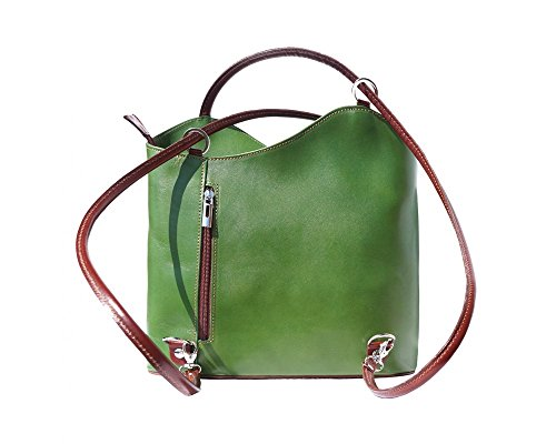 Florence Leather zaino borsa, Black & Brown (multicolore) - 207 Green & Brown