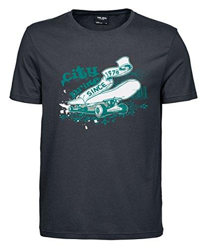 makato Herren T-Shirt Luxury Tee The City Life Dark Grey