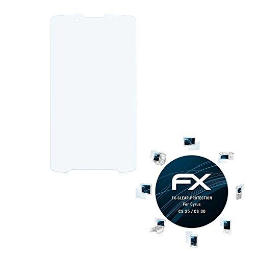atFolix Schutzfolie kompatibel mit Cyrus CS 25 / CS 30 Folie, ultraklare FX Bildschirmschutzfolie (3X)