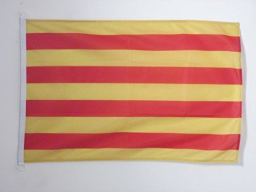 AZ FLAG Bandera de CATALUÑA 150x90cm Uso Exterior - Bandera CATALANA - Catalunya 90 x 150 cm Anillos