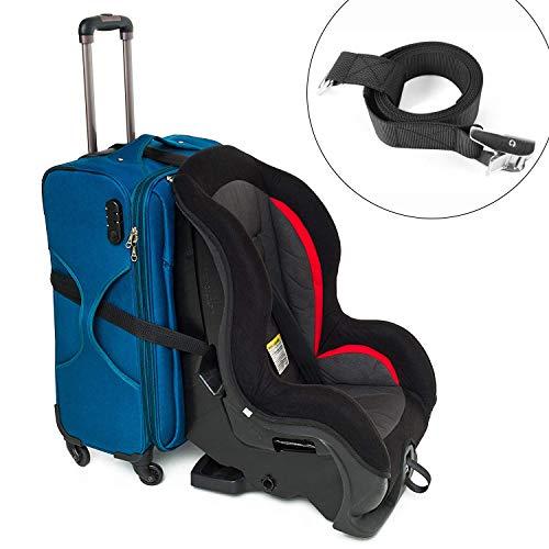 Preisvergleich Produktbild Ansblue Autositzgurt,  Autositzgurt,  Kindersitzgepäckgurt zum Umwandeln Ihres Autositzes und des Handgepäcks in einen Flughafenautositzwagen und -träger