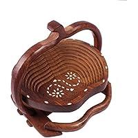 Hand Made elegante semplice funzionale display ciotola di legno Basket da cucina Utility