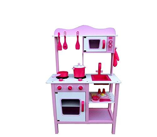 Kinderküche Aga4Kids AMBER, Küchenspielzeug,Spielküche,Küche mit Zubehör, Spielzeugküche, Holzspielküche,Kinderspielküche