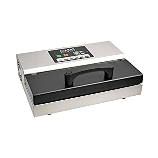 Allvac Vakuumiergerät/Vakuummaschine P 355 von Allpax + Muster-Vakuumbeutel und 2 Rollen à 6 m - mit Pulse-System für druckempfindliche Produkte - 97% Vakuumerzeugung