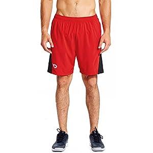 Baleaf Herren Laufhose kurze Sporthose Shorts Quick-Dry-Funktion Fitness Hose mit Seitentaschen