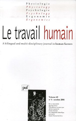 Le travail humain, Volume 69 N° 4, Octo :